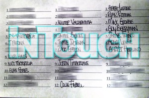 Lohan's Hookup List